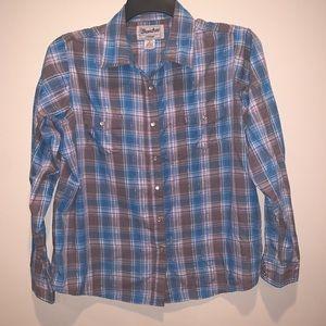 Wrancher by Wrangler Plaid LS Shirt (XL)